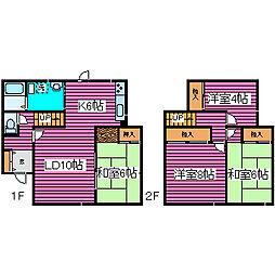 [一戸建] 北海道札幌市北区屯田六条4丁目 の賃貸【/】の間取り