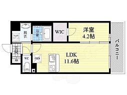 京阪本線 関目駅 徒歩7分の賃貸マンション 5階1LDKの間取り