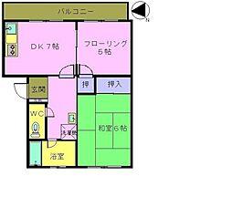 松崎コーポ[103号室]の間取り