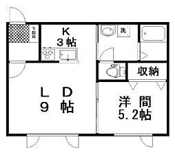 (仮)池田Yアパート 1階1LDKの間取り