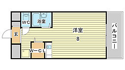 兵庫県姫路市北条口3丁目の賃貸マンションの間取り