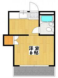 コーポエム5[3階]の間取り