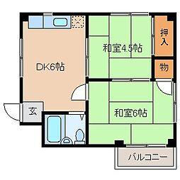 福岡県福岡市博多区吉塚7丁目の賃貸マンションの間取り