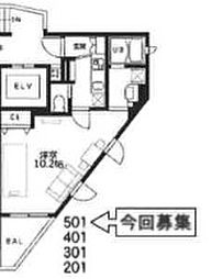 東京都豊島区池袋4丁目の賃貸マンションの間取り
