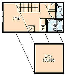 東京都大田区南久が原1の賃貸アパートの間取り