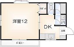 ハイツK&Y[302号室]の間取り
