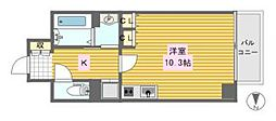 レジェンドール心斎橋東[15階]の間取り