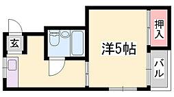 浜口マンション[4階]の間取り