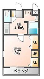 ハートフルOKA[1階]の間取り