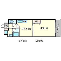 エンゼルプラザ京都[4階]の間取り
