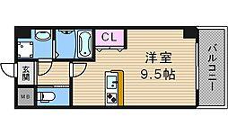 サンライフ北田辺[2階]の間取り