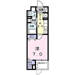 神奈川県大和市上草柳1丁目の賃貸マンションの間取り