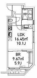 ファビオ東大前 3階1LDKの間取り