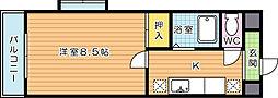 スタディハイツIII[6階]の間取り
