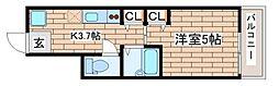 神戸市西神・山手線 上沢駅 徒歩3分の賃貸アパート 1階1Kの間取り