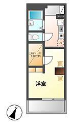 愛知県名古屋市熱田区西野町2丁目の賃貸マンションの間取り