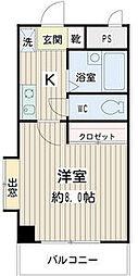 神奈川県川崎市川崎区下並木の賃貸マンションの間取り