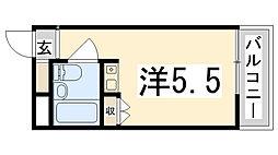 兵庫県姫路市広畑区東新町1丁目の賃貸マンションの間取り