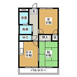 サニーホーム[1階]の間取り