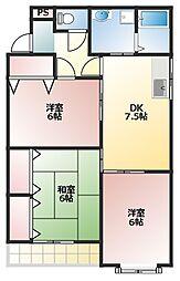 ネオハートI[1階]の間取り