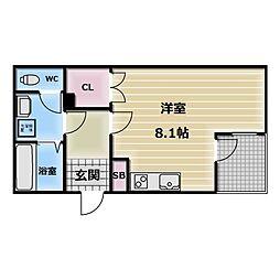 ALEGLIA河内小阪[1階]の間取り