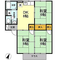 サニーハウス A棟[1階]の間取り