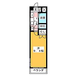 アビタシオン船原[2階]の間取り