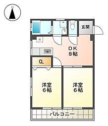 愛知県名古屋市東区古出来3丁目の賃貸マンションの間取り