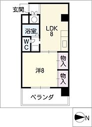 アベニュー22[4階]の間取り