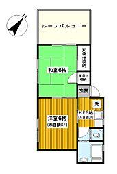 神奈川県横浜市南区山王町2丁目の賃貸マンションの間取り