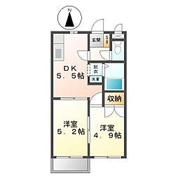 ファミール尾崎[2階]の間取り