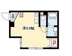 ARK岩塚駅南 B棟 2階ワンルームの間取り