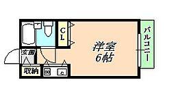 ジュネス福田[3階]の間取り
