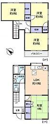 [テラスハウス] 千葉県船橋市七林町 の賃貸【千葉県 / 船橋市】の間取り