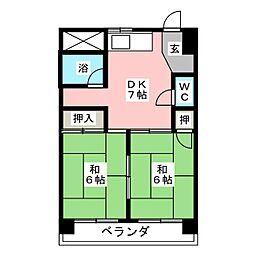 三和ハイツ日吉ビル[7階]の間取り