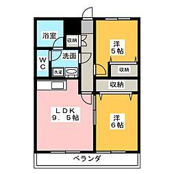 メゾン梅香[3階]の間取り