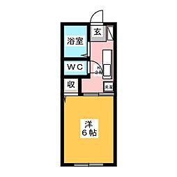 カーサコスモ[2階]の間取り