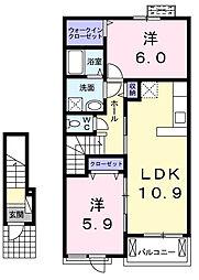 グランプラトV[2階]の間取り
