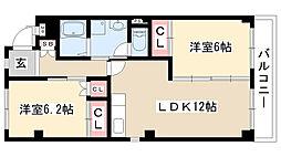 愛知県名古屋市緑区鎌倉台2丁目の賃貸マンションの間取り