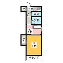 レオン八事 3号館[2階]の間取り