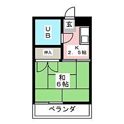 サン・あすか[2階]の間取り