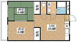 エステート昭島[201号室]の間取り
