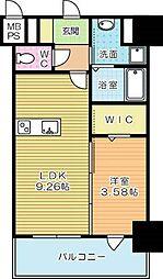 THE HILLS KOKURA[3階]の間取り