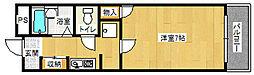 大阪府大阪市西淀川区大和田4丁目の賃貸マンションの間取り