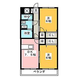 エトワールガレ[3階]の間取り