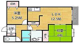 アズステーション原田[2階]の間取り