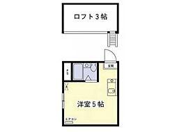 スタジオ・テン[1階]の間取り
