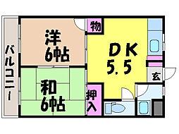 潮見マンション・[5階]の間取り