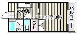 岡山県岡山市南区大福丁目なしの賃貸マンションの間取り