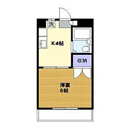 プラス1USHIO[201号室]の間取り